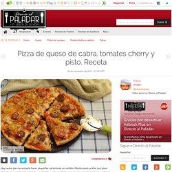 Pizza de queso de cabra, tomates cherry y pisto