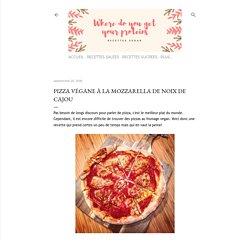 Pizza végane à la mozzarella de noix de cajou