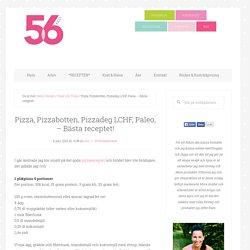 Pizza, Pizzabotten, Pizzadeg LCHF, Paleo, - Bästa receptet!