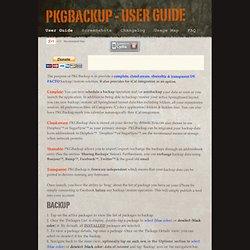 PKGBACKUP - User Guide
