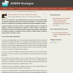 Mise en place des 3C dans l'académie de Rennes - ADBEN Bretagne