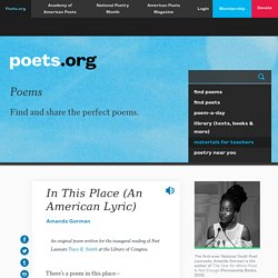 In This Place (An American Lyric) by Amanda Gorman
