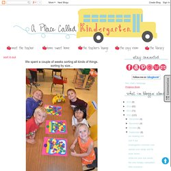 A Place Called Kindergarten: sort it out