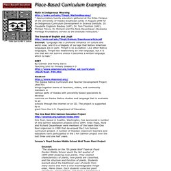 Place-Based Curriculum Examples