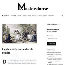 La place de la danse dans la société - Master Danse