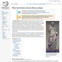 Place des femmes dans la Rome antique