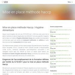 Mise en place de la méthode Haccp en restauration