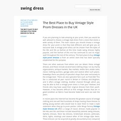 The Best Place to Buy Vintage Style Prom Dresses in the UK - swing dress