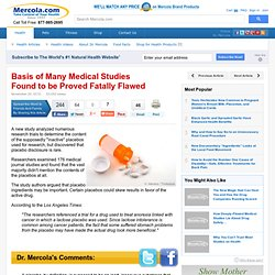 The Placebo Effect and the Fatally Flawed Medical Studies