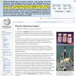 Placebo (pharmacologie)