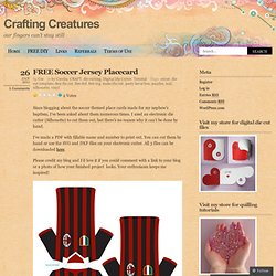FREE Soccer Jersey Placecard « Crafting Creatures