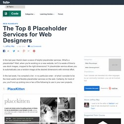 The Top 8 Placeholder Services for Web Designers
