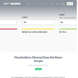 Placeholders: Minimal Does Not Mean Simple - Marvel Blog