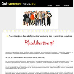 placelibertrine sites adulteres
