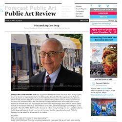 Placemaking Gets Deep - Forecast Public Art