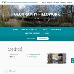 Placemaking - FSC Geography Fieldwork