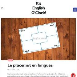 Le placemat en langues – ❄️️ It's English O'Clock ! ⛄
