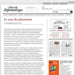 Le sens du placement, par Pierre Rimbert (Le Monde diplomatique, septembre 2015)