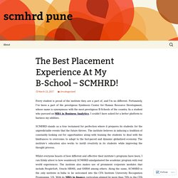 The Best Placement Experience At My B-School – SCMHRD!
