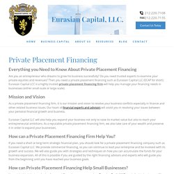 Private Placement Financing