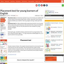 Placement test for young learners of English - Games to learn English