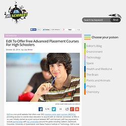 EdX To Offer Free Advanced Placement Courses For High Schoolers