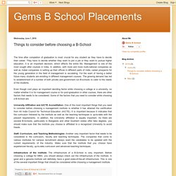 Gems B School Placements: Things to consider before choosing a B-School