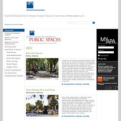 Great Places in America: Public Spaces
