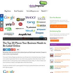 The Top 20 Places Your Business Needs to Be Listed Online