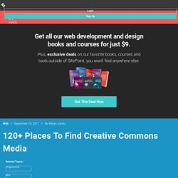 120+ Places To Find Creative Commons Media