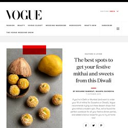 Top Places for Diwali Mithai at Vogue India