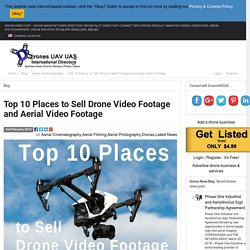 Top 10 Places to Sell Drone Video and Drone Aerial Video Footage