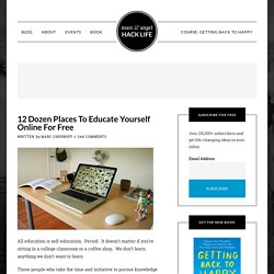 12 Dozen Places To Educate Yourself Online For Free - StumbleUpon