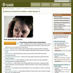 25 Places to Find Free Online Audio Books