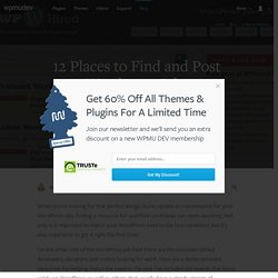 12 Places to Find and Post WordPress Jobs