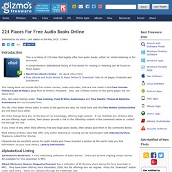 224 Places For Free Audio Books Online