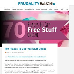 70+ Places To Get Free Stuff Online