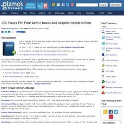 Free Comic Books Online