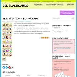 Places in Town Flashcards - ESL Flashcards