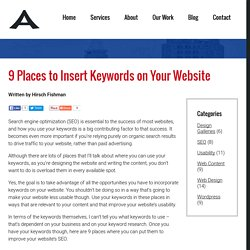 9 Places to Insert Keywords on Your Website