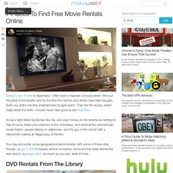 7 Places To Find Free Movie Rentals Online