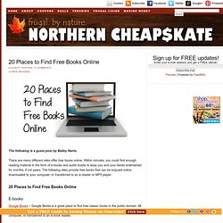 20 Places to Find Free Books Online | Northern Cheapskate