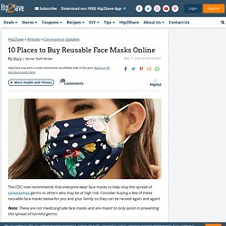 10 Best Places to Buy Reusable Face Masks Online