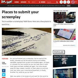 Places to submit your screenplay