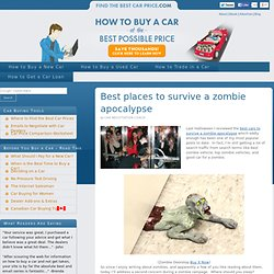 Best places to survive a zombie apocalypse