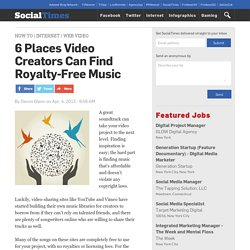 6 Places Video Creators Can Find Royalty-Free Music