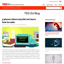 5 places where any kid can learn how to code