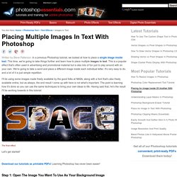 Placing Multiple Images In Text