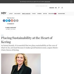 Placing Sustainability at the Heart of Kering