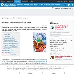 Plafonds de sécurité sociale 2019 (Droit finance)